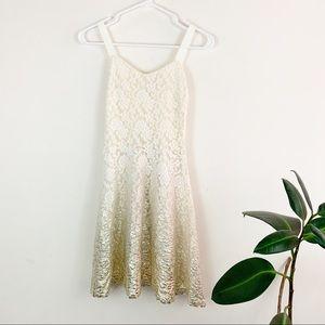 free people | lace ombré glitter dress (XS)